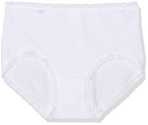 Sloggi Damen Slip, 3er Pack 24/7 Cotlac MD3P, Gr. 44, Weiß (WHITE 03)