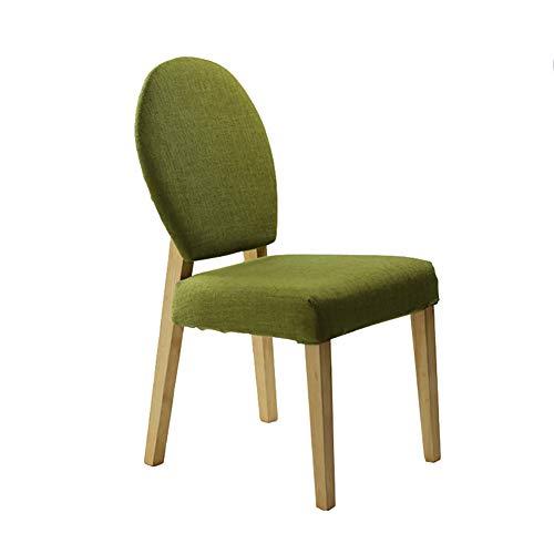 Esszimmerstühle YXX Kitchen Wood Legs Dining Side Stuhl für Kinder, Modern Green Gepolsterter...