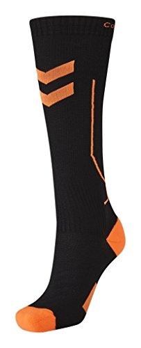 ssion Socks, Mehrfarbig (Black/Shocking Orange), 32 - 28 cm (Herstellergröße: 2) ()