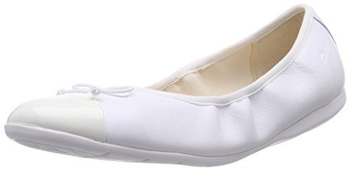 Clarks Kids Dance Puff Jnr, Chaussons courts, non doublées fille Blanc (White Leather)