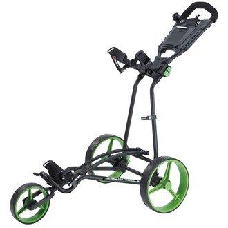 2015 BigMax TI 1000 Autofold+ 3-Wheel Pull/Push Golf Trolley/Cart Black/Lime