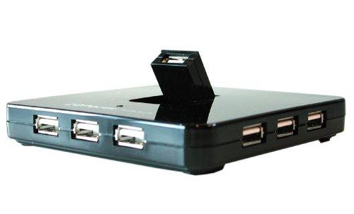 Preisvergleich Produktbild 10 Port USB 2.0 High Speed Port Hub mit Quick Flip Toplader