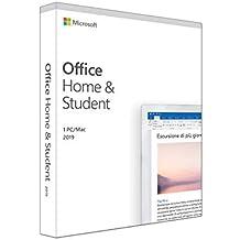 Microsoft Office Home & Student 2019 | il pagamento avviene una sola volta | si installa su un solo dispositivo PC (Windows 10) o Mac | 1 licenza | scatola