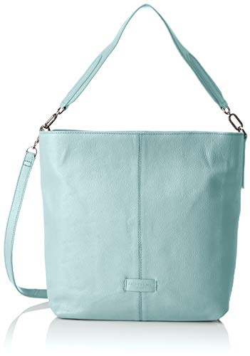 Liebeskind Berlin Damen Essential Hobo Medium Schultertasche, Blau (Light Blue Mist), 13x34x30 cm -