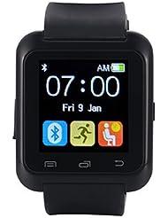 [Ofertas]EasySMX Bluetooth 4.0 Smartwatch Soporte de 2016 Sistema Android Versión Nueva Reloj con Android Smartphones como Samsung, HTC, Sony, Huawei (Negro)