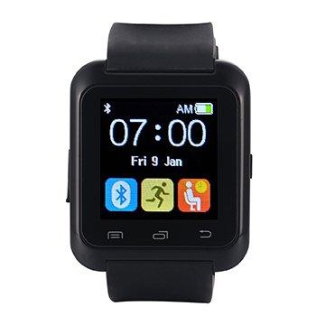[Regalos de Reyes] EasySMX Bluetooth 4.0 Multi-idiomas Reloj Inteligente Smartwatch podómetro/ Monitor de sueño/ Alarma/ Calendario con la Pantalla Táctil Compatible con Android Smartphones como Samsung, HTC, Sony, Huawei (Negro)