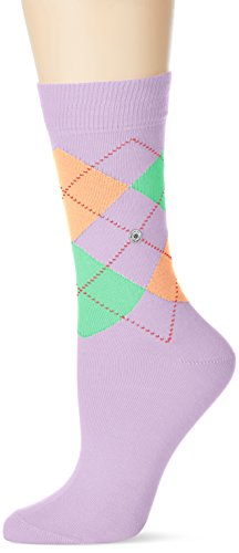 Burlington Damen Socken Queen, Mehrfarbig (Light Lilac 6819), 36/41