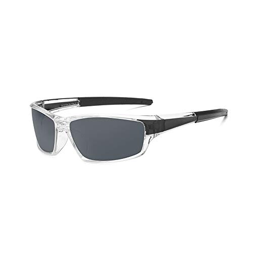 Easy Go Shopping Teardrop Herren Sonnenbrille Klassisches Design UV Cut Cross & Brillenetui Polarisierte Sonnenbrille Sonnenbrillen und Flacher Spiegel (Color : Silber, Size : Kostenlos)