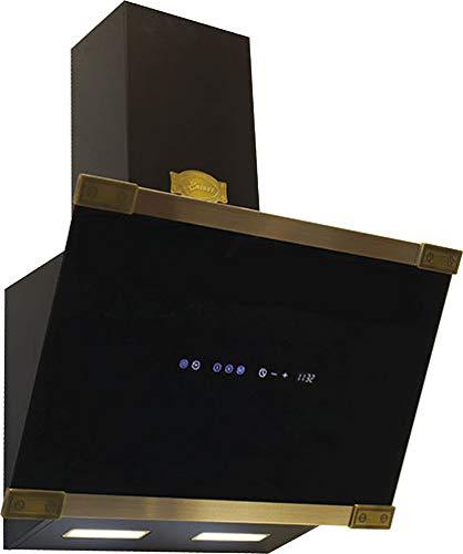 Kaiser AT 6445 Art Déco • Retro kopffreie Dunstabzugshaube •1250 m³/h•Schwarzes Glas •Abzugshaube • Wandabzugshaube • Abluft/Umluft • 3 Stufen • 60 cm • •inkl. Umluftset•Abzugshaube•kopffreihaube