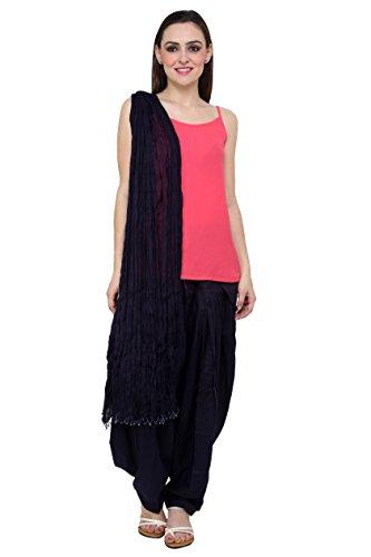 Pistaa'S Women's Cotton Patiala Salwar With Dupatta (APWDNB_Navy Blue_Free Size)