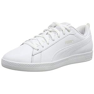 PUMA Women's Smash WNS V2 L Sneakers, White White, 39 EU 6UK 6 UK