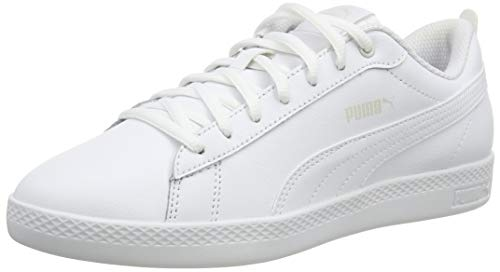Puma Damen Smash WNS V2 L Sneaker, Weiß (Puma White-Puma White), 41 EU