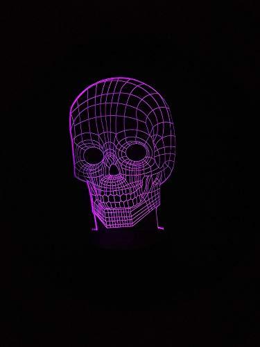 Großhandel 3D Schädel Atmosphäre Nacht Lichter LED Lampe Touch Sensor Halloween Theme Party Cool Man Wohnzimmer Schlafzimmer Tisch Schreibtisch Dekor