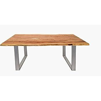 Tischplatte massivholz baumkante  Massiver Baumstamm Esstisch MAMMUT 160cm Akazie Massivholz ...