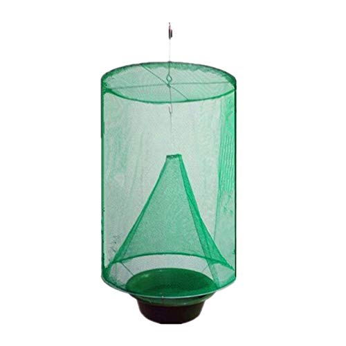 Schädlingsbekämpfung Wiederverwendbare hängende Fly Catcher Killer Fliegen Fliegenfalle Zapper Käfig Net Trap Garden Home Yard Supplies - Bait Net Fish