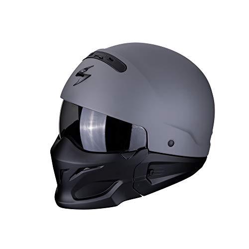 Scorpion 82-100-228-05 Motorrad Helm, Grau, L