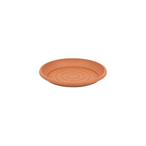 Terra soucoupe en plastique, marron couleur, diametre: 9 cm