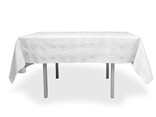 Tischdecke rechteckig Baumwolle 140x240 cm LYAM weiß