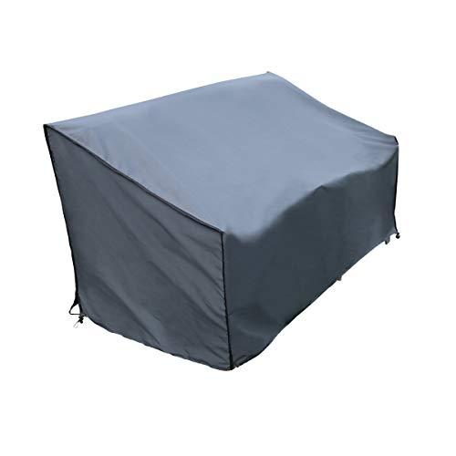 SORARA Schutzhülle/Cover Bank | Grau | 86 x 178 x 90/61 cm (L x B x H) | Wasserabweisend Polyester & PU Coating (UV 50+)| Wetterschutz | Regenfest | für Outdoor Garten Möbel