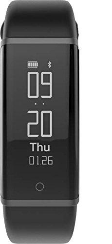 Lenovo HX03W Cardio Plus - Pulsera inteligente (incluye caja), color negro