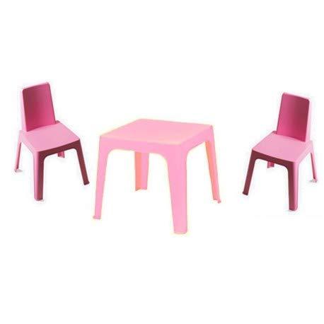DESKandSIT Set für 2 kleine Stühle und Tische Julia cju1032001 -