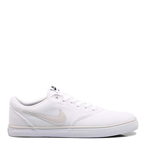 White Nike Sb (Nike Unisex-Erwachsene Sb Check Solar CNVS Fitnessschuhe, Mehrfarbig Vast Grey/White 101, 43 EU)