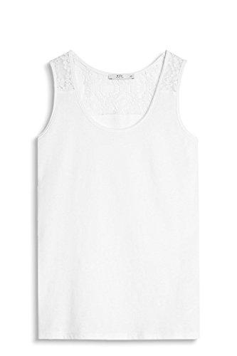 edc by Esprit 047cc1k050, Débardeur Femme Blanc (Off White)