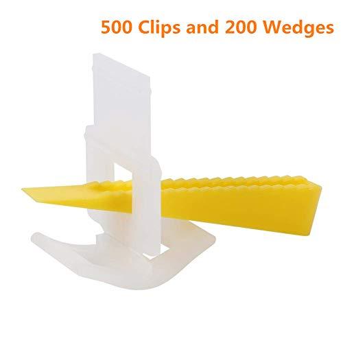 Azulejos de nivelación sistema, Productos para nivelar, Azulejos espacio nivelador, Espaciadores del nivelador del azulejo de la pared del piso del sistema de nivelación del azulejo - 500 clips y 200