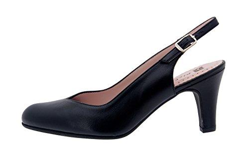 Komfort Damenlederschuh Piesanto 8210 pumps schuhe bequem breit Schwarz