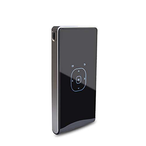HQYsijin Micro Hd 1080P Videoprojektor Mit Android, Unterstützung WiFi Bluetooth,Schwarz,14.6cm×7.9cm×1.6cm - Led-projektor-1080p-epson