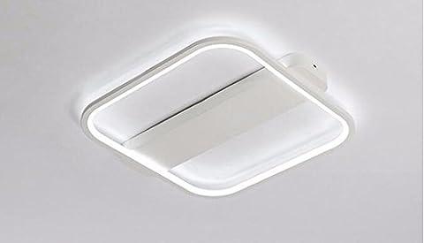 LoveScc Chambre moderne et minimaliste créative Accueil Lampes de plafond que Garçons Filles Prix et plafonniers un carré Three-Color Dim 25W42cm