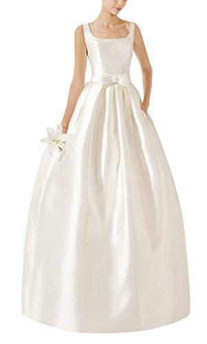 GEORGE BRIDE 2017 neueste quadratischen Ausschnitt Bogen Tasche Brautkleid Hochzeitskleid, Groesse...