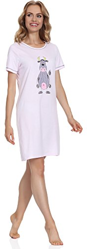 Italian Fashion IF Damen Nachthemd Raspberry 0114 Rosa