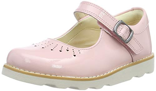 Clarks crown jump t, ballerine bambina, rosa pink pat, 23 eu