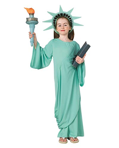 Horror-Shop Amerikanische Freiheitsstatue Kinderkostüm M (Freiheitsstatue Kostüm Kind)