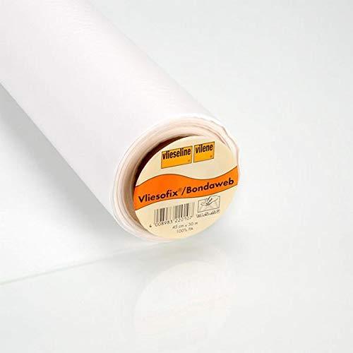 Fabulous Fabrics Vlieseinlage weiß, 45cm breit - zum Aufbügeln auf Jacken, Kleidern oder Oberteilen - Meterware erhältlich ab 0,5 m