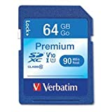 Verbatim  SecureDigital SDXC, Class 10, 64GB, 90 MB/s