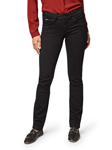 TOM TAILOR für Frauen Jeanshosen Alexa Straight Jeans Black, 30/30