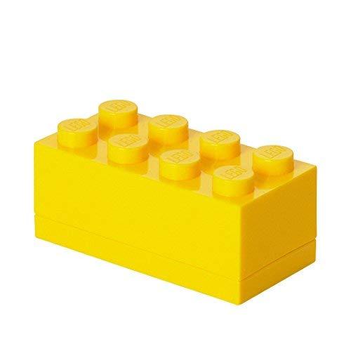 LEGO Mini-Box, 8 Noppen, Lunchbox-Einsatz, Snackbox, gelb