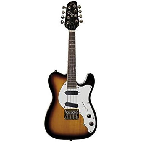 Revelation RTM Mandolino, a forma di chitarra elettrica in due tonalità, motivo: Sprazzo di sole