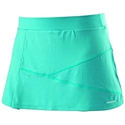 Head Ada - Falda pantalón (skorts) de tenis para mujer, color turquesa, talla XL