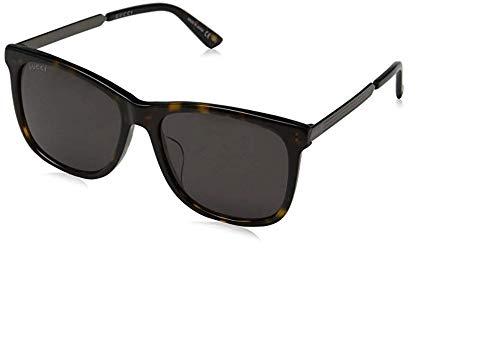 Gucci Herren GG0078SK 002 Sonnenbrille, Schwarz (Black/Grey), 56