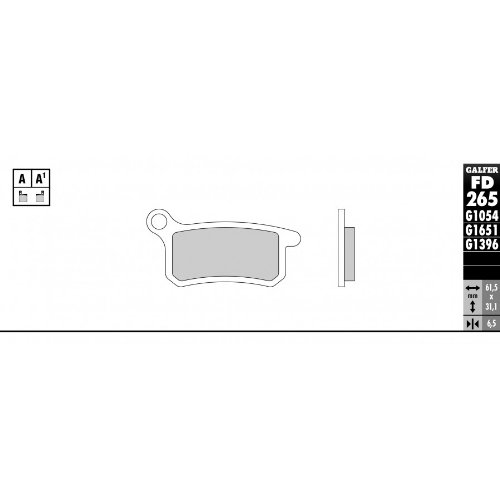 GALFER freni posteriori Sinter-Street–KTM 65SX 65CCM KTM 8585CCM