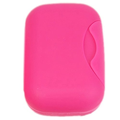 Gemini_mall® Plastic Soap Case Holder Container Box Home Outdoor Hiking Camping Travel (Hot Pink)