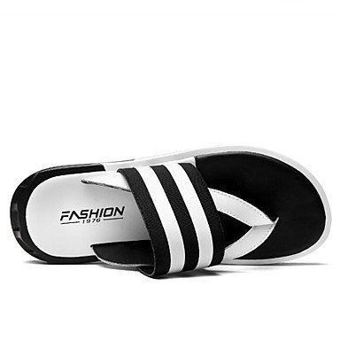 Slippers & amp da uomo;Primavera Estate Autunno Soles Comfort Light pelle esterna casuale Tacco sandali US8 / EU40 / UK7 / CN41