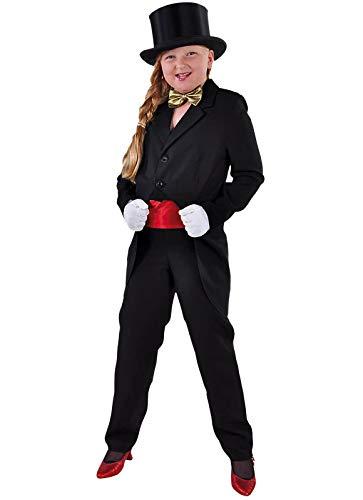 narrenkiste M205013-2-152 schwarz Kinder Frack Zirkus Kostüm - Kabarett Kostüm Kinder