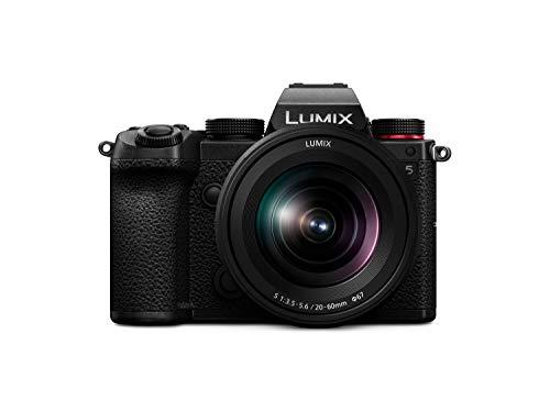 Oferta de Panasonic LUMIX DC-S5KE-K - Cámara Evil de 24 MP (Pantalla táctil de 3, Estabilizador Óptico de 5 Ejes, Visor OLED, Raw, Wi-Fi, 4 K, Kit con Objetivo Lumix 20-60mm/F3.5-5.6) Negro