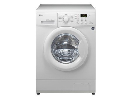 LG f1092nd Independent Front Load 6kg 1000TR/min A + +, Front Load, stand-alone White Washing Machine�-�Washing Machines (White, Left, LCD, 180��)