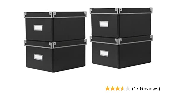 Ikea kassett dvd storage boxes with lid black pack total
