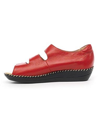 Pediconfort - Sandales à ouverture totale Rouge